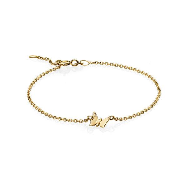 Butterfly armbånd i guld