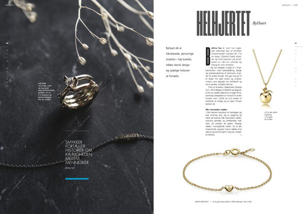 Artikel om byheart.dk - Håndlavede danske designsmykker