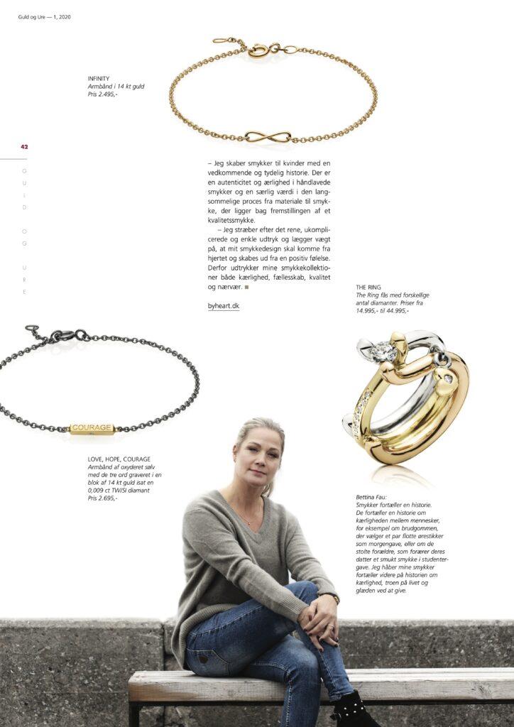 Artikel 2 i Guld og Ure om byheart.dk håndlavede smykker i dansk design
